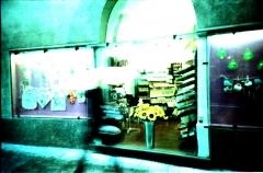 Coffee Rain. Camera: Lomo LC-A. E6 film cross Processed.