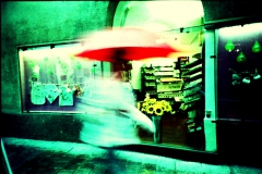 Coffee Rain. Camera: Lomo LC-A. E6 film cross Processed.