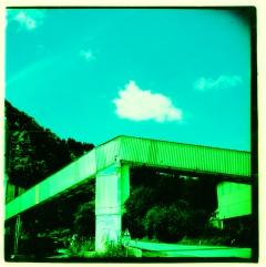 Industrial Post-Apocalypse. Camera: Lubitel 166. Film: Kodak E100VS, cross processed.