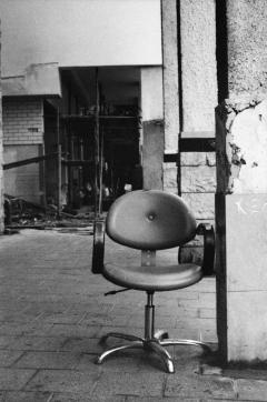 looking at things | abandoned. Camera: Nikon FE.