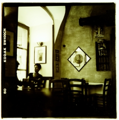Street Faces. Camera: Kiev 88, Film: Kodak BW400CN.